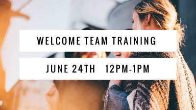 Welcome Team Training